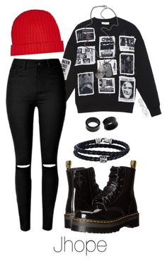 Concert with Jhope  by ari2sk on Polyvore featuring polyvore, moda, style, Dr. Martens, Phillip Gavriel, NOVICA, River Island, Diesel, fashion and clothing