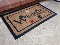 Magic the Gathering Door Mat by mtgcreations on Etsy, $40.00