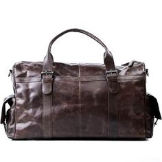 FEYNSINN travel bag ASHTON  weekender leather browncrumply  sports bag *** You can get additional details at the image link.