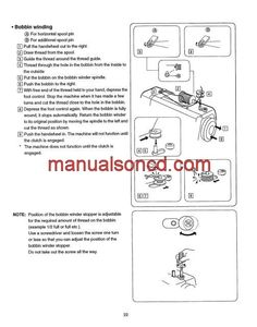 kenmore sewing machine instructions