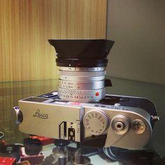 "Leica Summiux-M 35mm f1.4 ASPH - Silver /11883 & Leica M6 TTL Silver Japan Edition (""Leica"" printed on top plate)  #Leica #Leitz #Fotopia #Rangefinder #cameraporn #Filmcamera #Summilux #35mm #LeicaM6 #M6TTL"