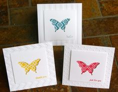 Stampin Up Elegant Butterfly Punch Cards 1