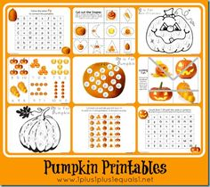 Pumpkin Theme Printables {Tot, Preschool, Kindergarten}. This blog has a ton of free printable education pages for different age groups.