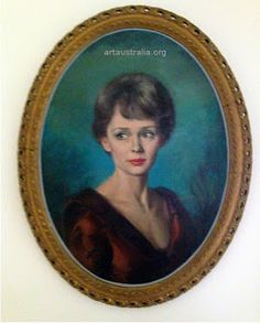 """Paul Fitzgerald"" Famous Australian (Portrait Painter) Realist Artist. Queen Elizabeth II Pope XXIII: Mary Parker (Mary Fitzgerald)  famous British Movi..."