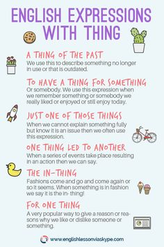 Useful English Expressions with the Word THING - Speak Fluent English English Vocabulary Words, Learn English Words, English Phrases, English Idioms, English Lessons, English Grammar, English English, English Channel, Spanish Grammar