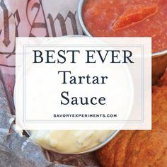 Best Tartar Sauce Recipe, Easy Tartar Sauce, Sauce Recipes, Fish Recipes, Seafood Recipes, Cooking Recipes, Tasty Videos, Food Videos, Kfc