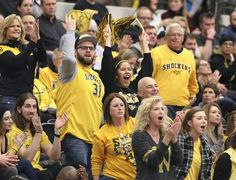 Wichita State fans cheer for their team against Loyola. (February 24, 2016)