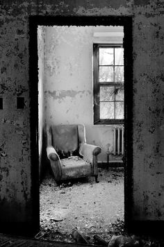 abandoned armchair