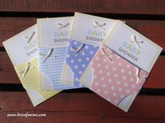 Diaper baby shower invitations with tutorial and free templates! Awesome!
