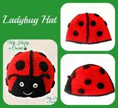Ladybug Crochet Hat Free Pattern