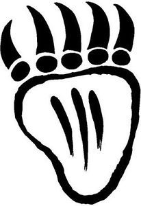 Native American Bear Paw Symbol Vinyl Decal Sticker Car Truck Sign ...