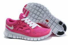 Nike free run 2 womens running shoes pink white uk online for sale