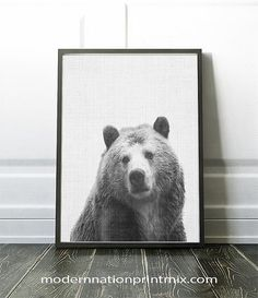 Hey, I found this really awesome Etsy listing at https://www.etsy.com/ca/listing/472781713/bear-print-animal-wall-art-wall-decor