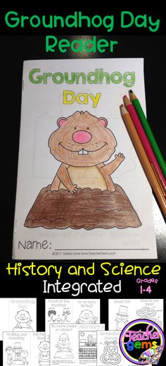 Punxsutawney Phil teaches your students all about Groundhog Day through this fun Groundhog Day Reader! Students learn about the history of Groundhog Day as well as some fun facts about groundhogs. #TeacherGems