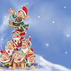 christmas disney the seven dwarfs christmas cartoons mickey christmas christmas cartoon pictures