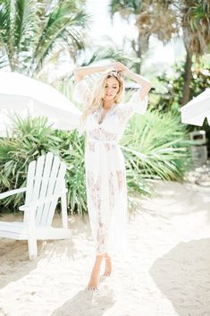 Boho brides and glamzillas alike will fall for this soft French lace robe with a scalloped v-neck and satin cinch. This floor-length robe is the ultimate statement maker for the morning or your wedding - picture yourself in hair and makeup with this beautiful robe draped around you. Corded lace Eyelash-trimmed neckli Chic Wedding, Wedding Gowns, Boho Bride, French Lace, Dream Dress, Wedding Pictures, Bridesmaid Gifts, Ball Gowns, Satin