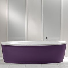 Dolce Freestanding Bath with Purple Surround