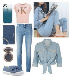 """""""Denim"""" by ottaviascanferla ❤ liked on Polyvore featuring Givenchy, Calvin Klein Jeans, River Island, Nine West, Casetify and Miu Miu"""