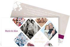 Invitation anniversaire de mariage sous forme de pêle mêle pour raconter votre histoire en photo, ref N13137