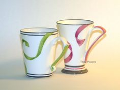 Tilleul Pourpre - Rubans Coffee Cups, Tea Cups, Coffee Container, Bowls, China Painting, China Dinnerware, Mug Cup, Bone China, Things To Buy
