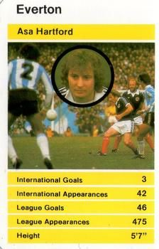 1982 Top Trumps British Stars Set 1 #NNO2 Asa Hartford Front