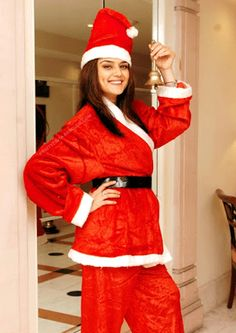 Stylish Pretty Zinta in hot Santa costume | PakistanTribe
