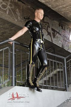 A trip into my fetish world of lycra and rubber with a bit of bondage, leather and sporty boys thrown inGuaranteed female free! Latex Men, Neoprene Rubber, Leather Boots, Handsome, Mens Fashion, Boys, How To Wear, Style, Pj
