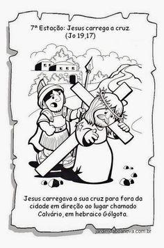 Jardim da Boa Nova: Via Sacra Projects To Try, Easter, Education, Comics, How To Make, History Of Easter, Sunday School Kids, Catechism, Sunday School