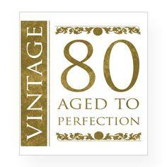 Fancy Vintage 80th Birthday Wine Label