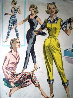 Rare McCalls Vintage 1950s Sewing Pattern 3415 by FoxVintageUk