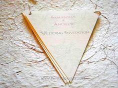 bunting wedding invite closed, (vintage rose design) by Karasdesigns, via Flickr