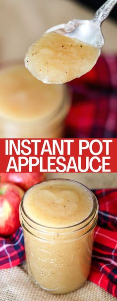 Instant Pot Applesauce is quick, easy, healthy and delicious! Fresh applesauce in less than 10 minutes with no added sugar!