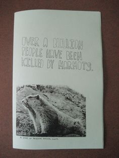 Over A Billion People Have Been Killed By Marmots.
