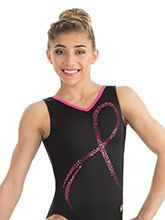 Pink Ribbon Leotard from GK Gymnastics