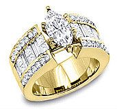 3.00 Carat The Incredible Gold Diamond Ring by WorldJewels on Etsy, $5,799.99