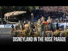 """Designed to honor the park's 60th anniversary, the Disneyland float featured a representation of Sleeping Beauty's Castle in its """"Diamond Celebration"""" decor,..."""