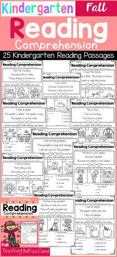 Inside you will find 25 Kindergarten Reading comprehension Passages. These reading comprehension packets include the following activities:-Read 3 times for fluency-Short answer questions-Fill in the blank questions-Multiple choices-Match the story with the pictures-SequencingThese reading passages are great for both beginning readers, struggling readers, and ESL students in Kindergarten,1st grade, and 2nd grade.These reading comprehension and fluency passages will build students' confidence…
