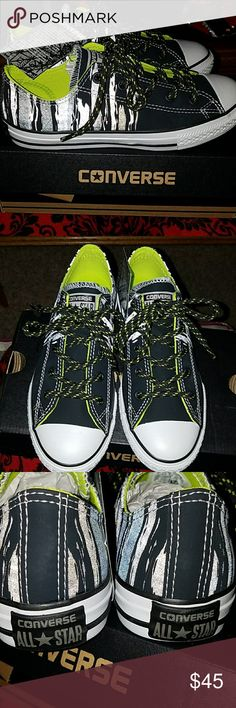 Converse shoes. Cute converse shoes.Size 3 junior.and fits size 5  womens.New never worn.Make me an offer. Converse Shoes Sneakers