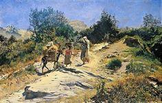Frank Buchser - Road to Civitella
