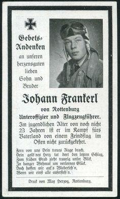 orig WK2 STERBEBILD - DEATH CARD - PILOT - LUFTWAFFE - FLIEGER MONTUR - OSTFRONT