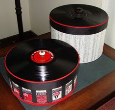 Record Album Decorative Boxes