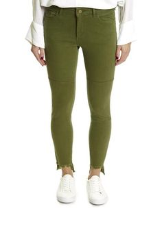 Whether you're looking for boyfriend jeans or casual trousers, this is place for you! Shop our selection of trousers here! Skinny Ankle Jeans, Skinny Legs, Leggings Fashion, Leggings Style, Dl 1961, Leg Stretching, Orange, Distressed Denim, Stretch Jeans