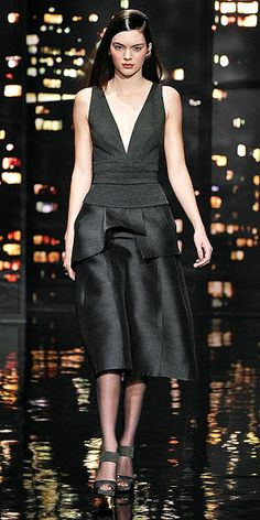 Kendall Jenner's Killer Catwalk Moments | DONNA KARAN | Glossy locks, rosy cheeks and a pretty party dress? This is a look we think Kendall might want to replicate off the runway.