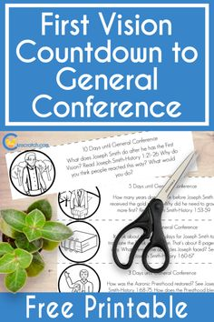 General Conference Activities For Kids, Primary Activities, Primary Lessons, Church Activities, Sunday Activities, Joseph Smith History, Visiting Teaching Handouts, Teaching Tips, Family Home Evening Lessons