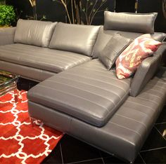 Upgrade your style with a sleek contemporary leather sectional. | Houston TX | Gallery Furniture |