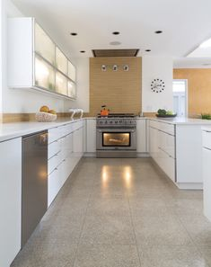Rescuing Mid-Century Modern - New Orleans Homes & Lifestyles - Spring 2015 - New Orleans, LA Budget Kitchen Remodel, Kitchen On A Budget, Modern Floor Tiles, Tile Floor, New Orleans Homes, New Homes, Kitchen Tiles, Kitchen Dining, Southern Homes