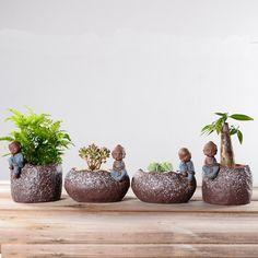 Planting Plants, Succulent Plants, Planting Succulents, Glass Terrarium, Terrariums, Raksha Bandhan Photos, Small Buddha Statue, Flower Pots, Flowers