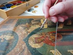 Restoration of Antique Icons and Russian Lacquer Boxes By Elena Vladimir Baranoff - Egg Tempera - Fine Art - Elena Baranoff