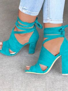 b0cbf224dc46 Lace Up Block Heels Sandals Heeled Sandals
