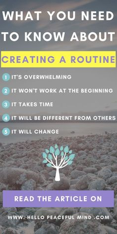 Discover what it takes to create a routine on www.HelloPeacefulMind.com